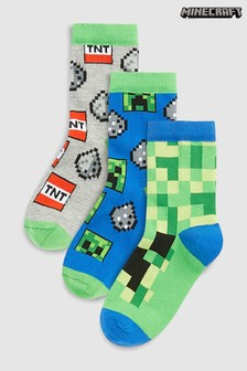 3 Pack Minecraft Socks (Older)