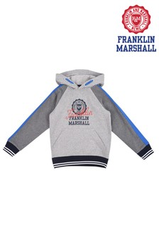 Franklin & Marshall Grey Contrast Over The Head Hoody