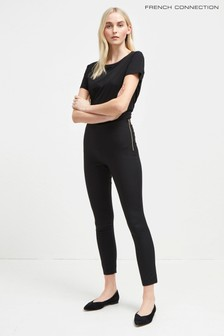 Черные эластичные облегающие брюки French Connection