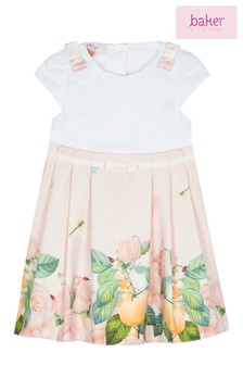 baker by Ted Baker Pink Rose Border Mockable Dress