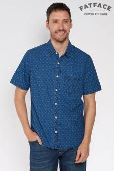 FatFace Blue Indigo Beaulieu Geo Print Shirt