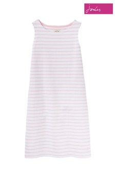 Joules Pink Riva Sleeveless Jersey Dress