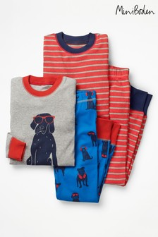 Boden Blue Twin Pack Long John Pyjama