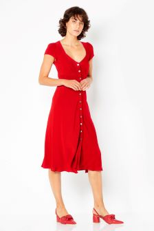 Ghost London Chilli Red Leona Dress