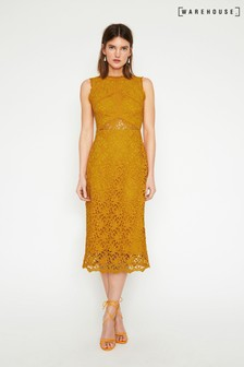 Warehouse Corded Lace Dress