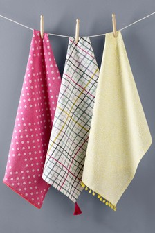 Set of 3 Neon Tea Towels