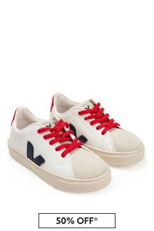 Kids White Nautico Esplar Lace Trainers