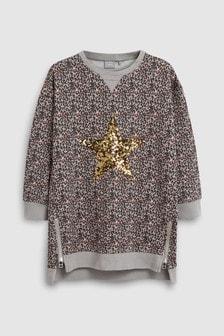 Sequin Jumper Dress (3-16yrs)