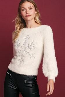 סוודר בדוגמת חג המולד