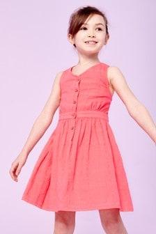 Button Summer Dress (3-16yrs)