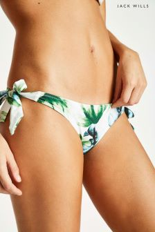 Jack Wills Green Harptree Bow Side Bikini Bottom