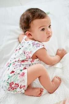Watercolour Floral Romper (0mths-2yrs)