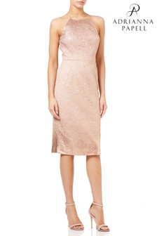 Adrianna Pappel Gold Lace Sheath Dress