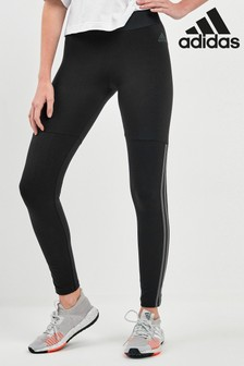 adidas Black Velour 3 Stripe Leggings