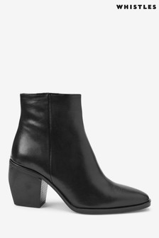 Whistles Black Grove Western Ankle Boots