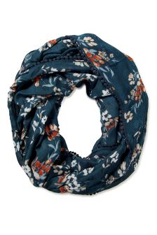 FatFace Teal Painterly Floral Snood