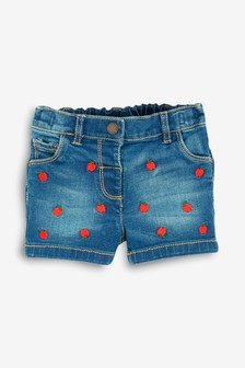 Apple Embroidered Shorts (3mths-7yrs)