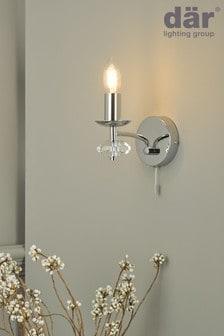 Dar Lighting Silver Oleana Wall Light