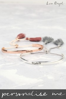 Personalised Tassel Bangle by Lisa Angel