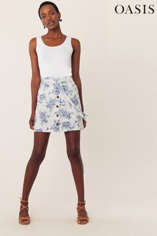Oasis Natural Bernie Bird Skirt