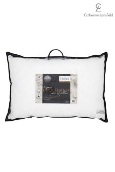 2 Pack Catherine Lansfield Duck Feather Pillows