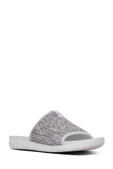 FitFlop™ White Mixed Artknit Olivia Pool Slide Sandal