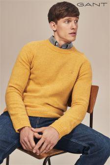 GANT Yellow Shetland Crew Knit