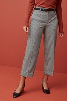 Клетчатая юбка-брюки