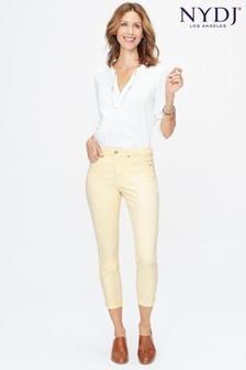 NYDJ® Pale Yellow Ami Skinny Ankle Jean With Raw Cuff
