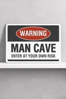 Warning Man Cave Metal Wall Art/Metal Sign