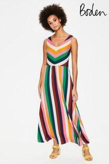 Boden Yellow Octavia Jersey Midi Dress