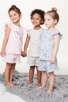 Unicorn Short Pyjamas Three Pack (9mths-8yrs)