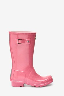 1e8401bebdb Hunter Pink Glitter Original Welly