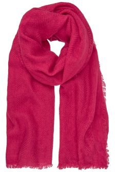 Mint Velvet Pink Plain Textured Scarf