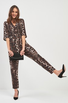 Fun Brown And Leopard Print Skirt Suit Career 12 View Collection Clothing, Shoes & Accessories