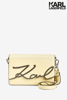 Karl Lagerfeld Yellow Signature Shoulder Bag