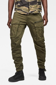 G-Star Dark Green Rovic Zip 3D Straight Tapered Trouser