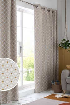 Country Geo Jacquard EYELET Curtains