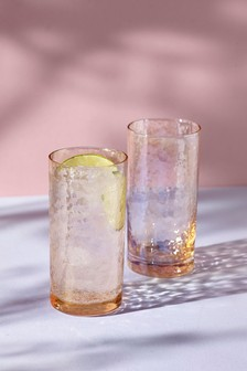 Lustre Effect Set of 2 Tumbler Glasses