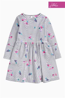 Joules Berry Stripe Alina Panelled Jersey Dress