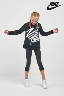 Nike Dri-FIT Therma Black Graphic Pullover Hoody