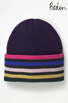 Boden Blue Stripe Detail Hat