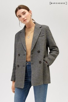 Warehouse Multi Check Blazer Jacket