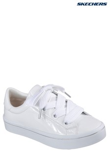 Skechers® White Patent Fat Lace Up Sneaker