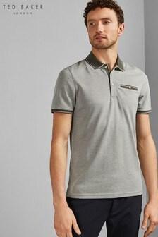 Ted Baker Khaki Short Sleeve Poloshirt