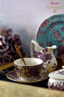 Set of 4 Spode Kingsley Tea Cup And Saucers