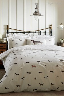 Sophie Allport Woof Cotton Dogs Duvet Cover and Pillowcase Set