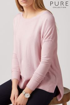 Pure Collection Pink Cashmere Sweater