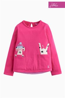 Joules Pink Dog Ava Appliqué Top