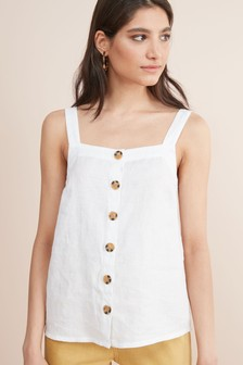 Linen Button Through Cami